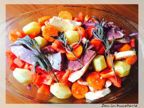 Curcan cu legume la cuptor – slow cooked
