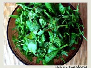 salata rucola si spanac