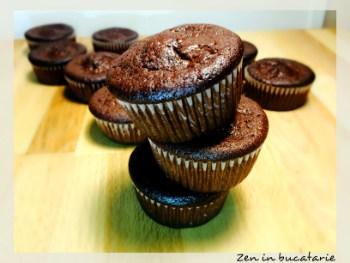 Briose cu ciocolata – pufoase si gustoase