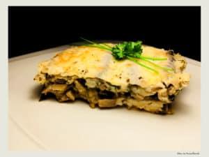 lasagna vegetariana cu ciuperci si vinete