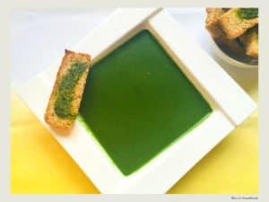 supa crema de spanac si leurda