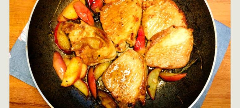 Cotlet de porc cu mere si salvie