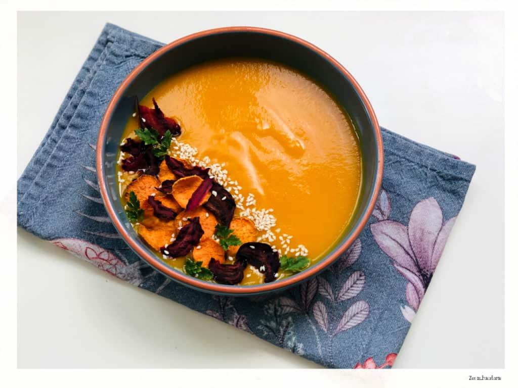 supa crema de morcovi si ghimbir